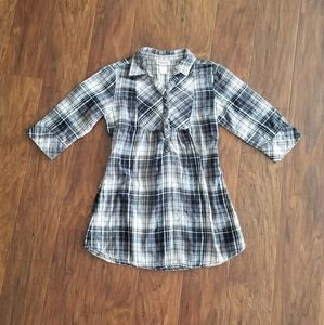 Mossimo Supply Co Plaid Dress Black {L 10/12}